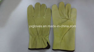 Full Leather Driver Glove-Safety Glove-Leather Working Glove pictures & photos