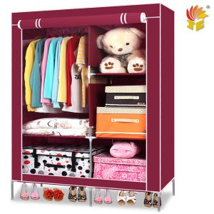 Folding Fabric Assemble Wardrobe