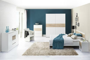 Modern White Lacquered Bedroom Set (HF-EY08061) pictures & photos