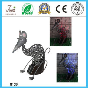 Solar Mouse Iron Crafts, Iron Figurine, Iron Decoration pictures & photos