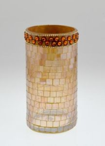 Home Decoration Glass Mosaic Candle Holder /Cylinder pictures & photos