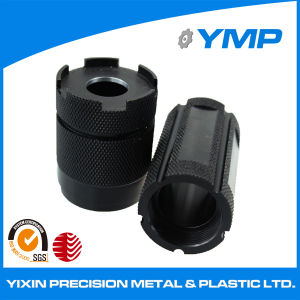 Precision CNC Turning & Knurling Black Oxide Aluminum Part