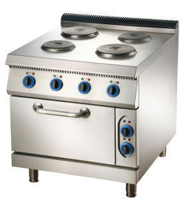 Electric 4-Plate Cooker with Oven pictures & photos
