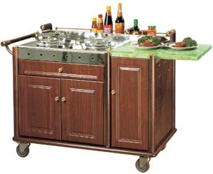 Jade Stone Panel Flambe Trolley with Wheels (FW-49A) pictures & photos