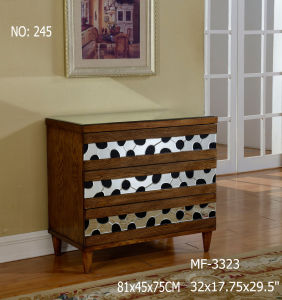 Dark Timber Wood Color 3 Drawer Cabinet pictures & photos