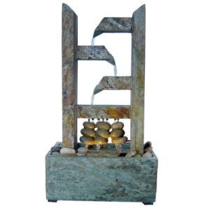 Real Stone Fountain with LED Light for Home Decoration pictures & photos