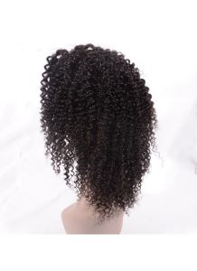 100% Virgin Human Hair Jerry Curly Lace Front Wig with Comb and Adjust Strip pictures & photos