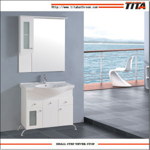 High Gloss White MDF Bathroom Product/Cabinets Bathroom/Furniture Bathroom (TM8021) pictures & photos