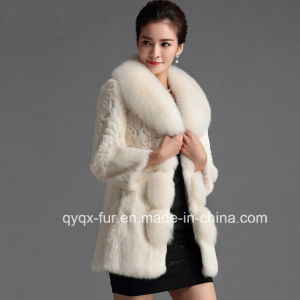 Women Winter Fur Collar Sexy Warm Thick Fur Coat Overcoat Outwear pictures & photos