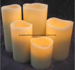 Flameless LED Wax Candle with Drip Effect pictures & photos