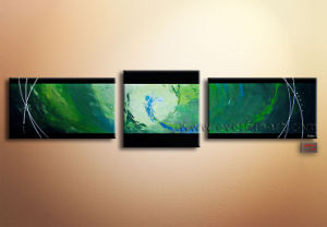Hand Painted Group Modern Abstract Canvas Oil Painting pictures & photos