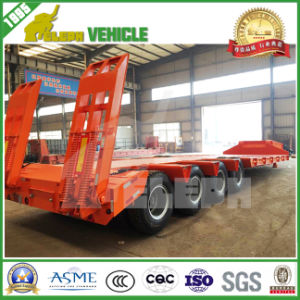 3 Axles Low Loading Deck Transport Heavy Machine Utility Trailer