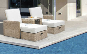 Patio Synthetic Outdoor Garden Wicker Rattan Sunlounge pictures & photos