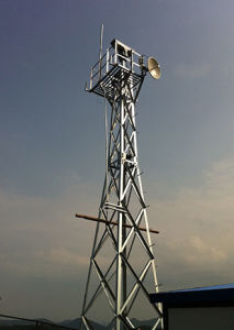 Galvanized Steel Lattice Self Supporting Watch Tower pictures & photos