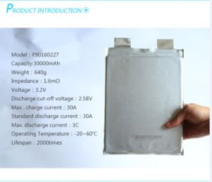 A123 3.3V 20ah LiFePO4 Prismatic Pouch Battery Cell pictures & photos