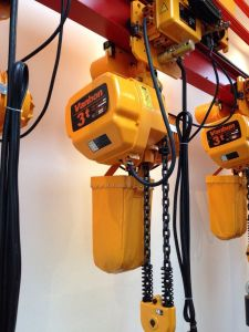 3ton Electric Chain Hoist with Trolley/ Two Chain Fall/ Double Speed pictures & photos