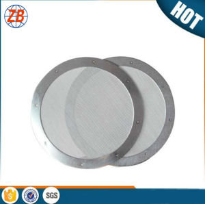 Premium Food Grade 304 316L Stainless Steel Dutch Weave Micron Mesh Coffee Filter Disc pictures & photos