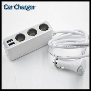 3 Cigarette Lighter Socket Dual 2 USB Outlets Ports Car Charger pictures & photos