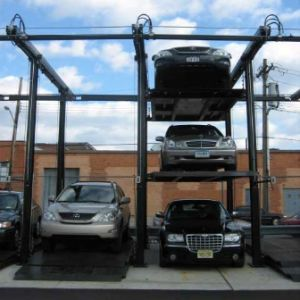Two Cylinder Two Post Hydraulic Parking Car Lift/Parking Auto Lift pictures & photos