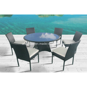 Dining Table for Outdoor / Dining Room Table with 6 Chairs / SGS (8214) pictures & photos