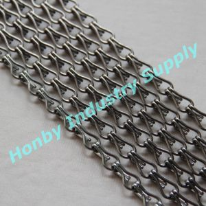 Decorating Shining Gunmetal Color Aluminum Link Chain for Lamp Screen