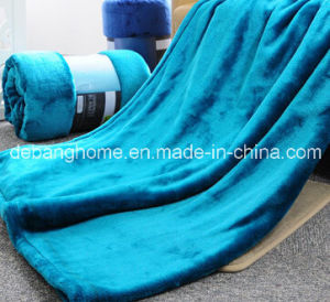 100% Polyester Embossed Fannel Blanket Micro Plush Blanket pictures & photos