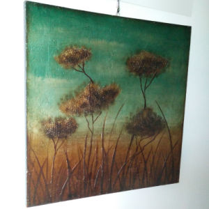 Trees in Grassland Hot Selling Scenery Oil Painting Wall Art (LH-225000) pictures & photos