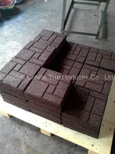 Hot Sale Colored Flexible Rubber Tile Production Line pictures & photos