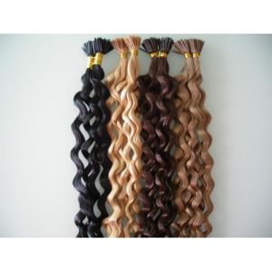 Beauty Brazilian Virgin Hair Curly I Tip Hair Extension pictures & photos