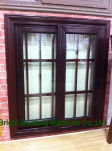 Sale Bronze Color Aluminum Sliding Windows with Grill Design pictures & photos
