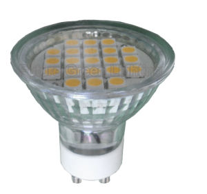 GU10 LED Light TUV/CE/RoHS Approved (Ra: ≥ 85, 21SMD 5050 with glass cover) pictures & photos