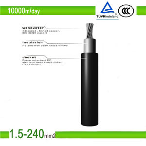 UV Resistant TUV Approved PV1f Solar Connector Cable pictures & photos