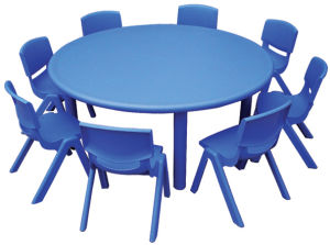 Kids Plastic Round Table and Chairs pictures & photos