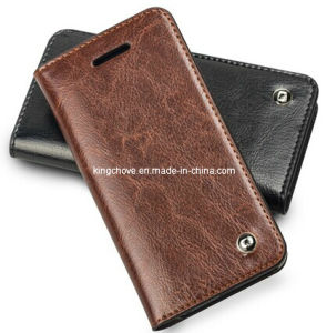Fashion Latest Cowhide Leather for iPhone 5 Case (KCI04) pictures & photos