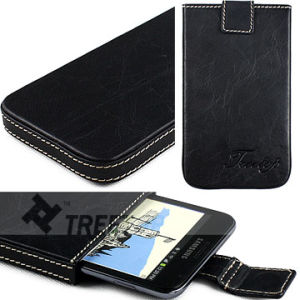 Genuine Leather Sleeve for Samsung Galaxy Note I9220 (SAGEMEBK03)