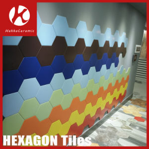 Marble Stone Design Pure Color Hexagon Six Corners Ceramic Wall and Floor Tile pictures & photos