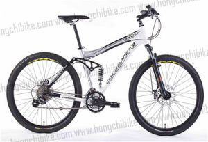 Alloy Frame MTB Bike Full Suspension Bicycle with High Bumper (HC-TSL-MTB-09642) pictures & photos