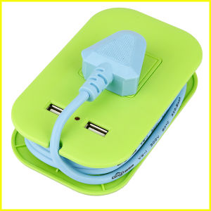 Fashion Green Small Portable Multifunctional USB Gift Socket
