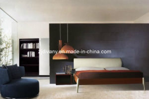 Divany Furniture Italian Style Wooden Leather Bed (A-B19) pictures & photos