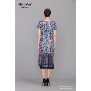 Miss You Ailinna 101338 Elegant Long Chiffon Dress Low Price Floral Dress pictures & photos