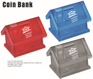 Promotional Plastic House Shape Coin Box pictures & photos