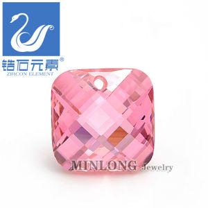 Square Shape CZ Stone Jewellery Accessery Zirconia Gemstone (CZ-1080)