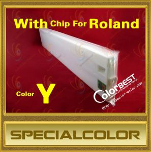 Roland Printer 440ml Solvent Ink Tank with Chip (Color Y) pictures & photos