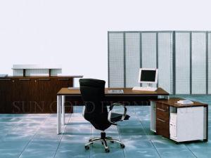 New Design Wooden Top Steel Frame Modern Desk (SZ-OD196) pictures & photos
