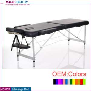 MB-004 3 Section Aluminum Folding Bed / Foldable Massage Bed pictures & photos