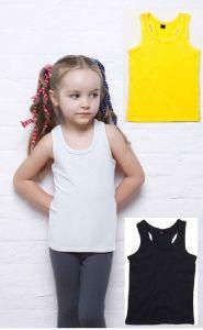 Girls Kids Plain Cotton Sleeveless Tank Top