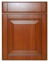 Newest Wood Grain Full Aluminium PVC Kitchen Cabinet Door pictures & photos