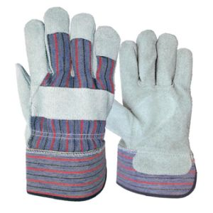 Industrial Double Palm Rugged Wear Working Gloves pictures & photos