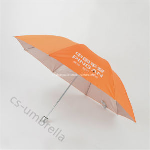 Orange Polyester Anti UV 3 Folding Umbrella (YS3F0003) pictures & photos