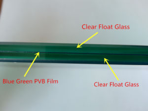 6.38mm Blue Green Decorative Safety Laminated Glass pictures & photos